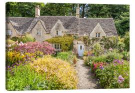 Canvas print  Romantic Cottage garden in the Cotswolds (England) - Christian Müringer