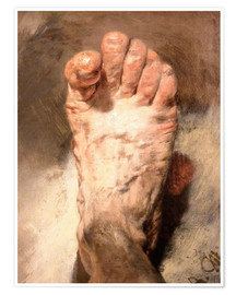 Premium poster  Foot of the artist - Adolph von Menzel