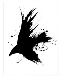 Premium poster  Rabe  Ink Black - Christian Klute