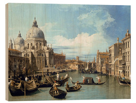 Wood print  Entrance to the Canal Venice - Bernardo Bellotto (Canaletto)