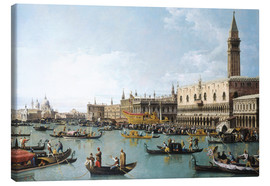 Canvas  The harbor of San Marco on Ascension Day - Bernardo Bellotto (Canaletto)