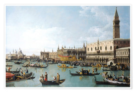 Premium poster  The harbour of San Marco on Ascension Day - Bernardo Bellotto (Canaletto)