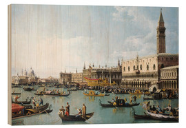Wood print  The harbour of San Marco on Ascension Day - Bernardo Bellotto (Canaletto)