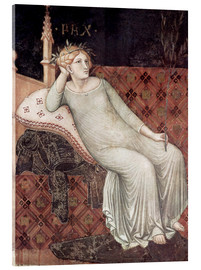 Acrylic print  Detail From Allegory And Effects Of Good And Bad Government - Ambrogio Lorenzetti