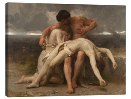 Canvas print  The First Mourning - William Adolphe Bouguereau