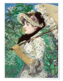 Poster  Spring (Jeanne) - Edouard Manet