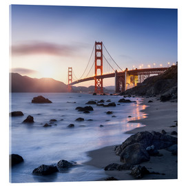 Acrylic print  San Francisco Golden Gate Bridge - Jan Christopher Becke