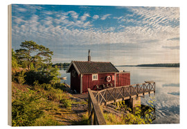Wood print  Archipelago on the Baltic Sea coast near Stockholm (Sweden) - Rico Ködder