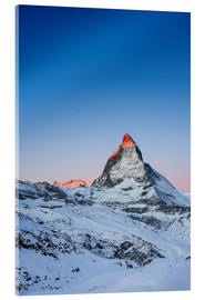 Acrylic print  Matterhorn at sunrise from Riffelberg - Peter Wey