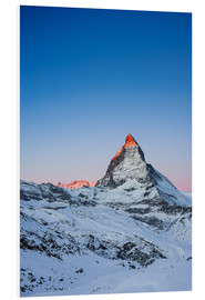Foam board print  Matterhorn at sunrise from Riffelberg - Peter Wey