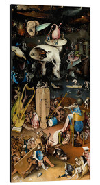 Aluminium print  Garden of earthly delights, Hell - Hieronymus Bosch