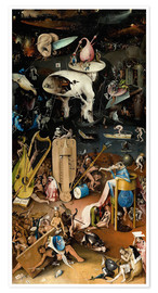 Premium poster Garden of earthly delights, Hell