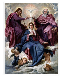 Premium poster  Coronation of the Virgin - Diego Rodriguez de Silva y Velazquez