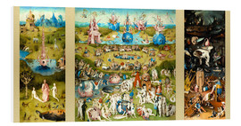 Foam board print  The garden of earthly delights - Hieronymus Bosch