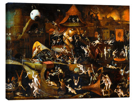 Canvas print  The harrowing of hell - Hieronymus Bosch