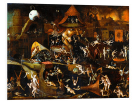 Foam board print  The harrowing of hell - Hieronymus Bosch