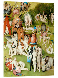 Acrylic print  Garden of Earthly Delights, mankind before the Flood (detail) - Hieronymus Bosch