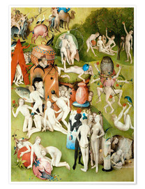 Premium poster  Garden of Earthly Delights, mankind before the Flood (detail) - Hieronymus Bosch
