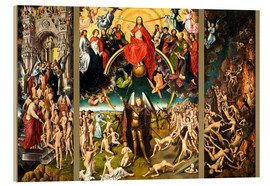 Acrylic print  Judgement Day - Hans Memling