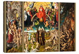 Canvas print  Judgement Day - Hans Memling