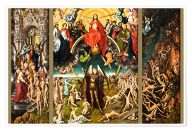 Premium poster  Judgement Day - Hans Memling