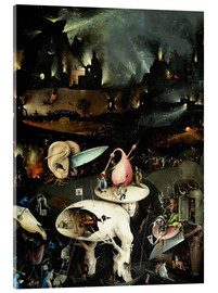 Acrylic print  Garden of Earthly Delights, Hell (detail) - Hieronymus Bosch