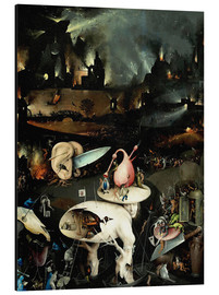 Alu-Dibond  Garden of Earthly Delights, Hell (detail) - Hieronymus Bosch