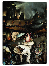 Canvas print  Garden of Earthly Delights, Hell (detail) - Hieronymus Bosch
