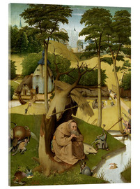 Acrylic print  The temptation of St.. Antonius - Hieronymus Bosch