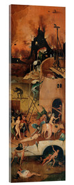 Acrylic print  The Hay Wain, hell - Hieronymus Bosch