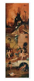 Premium poster  The Hay Wain, hell - Hieronymus Bosch