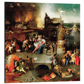 Aluminium print  Saint Anthony in distress - Hieronymus Bosch