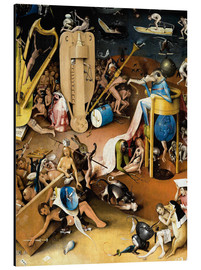 Aluminium print  Garden of Earthly Delights, Hell (detail) - Hieronymus Bosch
