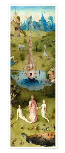 Premium poster Garden of Earthly Delights, the paradise