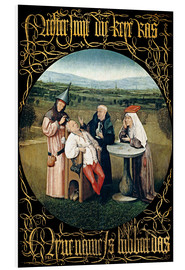 Foam board print  Cutting the stone - Hieronymus Bosch