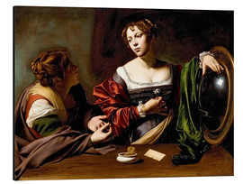 Alu-Dibond  Martha and Mary Magdalene - Michelangelo Merisi (Caravaggio)
