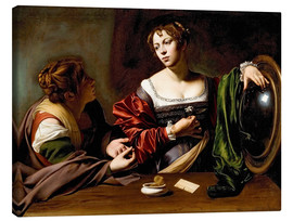 Canvas print  Martha and Mary Magdalene - Michelangelo Merisi (Caravaggio)