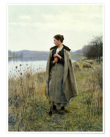 Premium poster The Shepherdess of Rolleboise