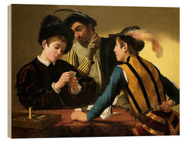 Wood  The Cardsharps - Michelangelo Merisi (Caravaggio)