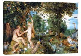 Canvas print  Garden of Eden with the Fall of Man - Jan Brueghel d.Ä.