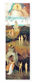 Premium poster  Emergence of evil and the loss of paradise - Hieronymus Bosch