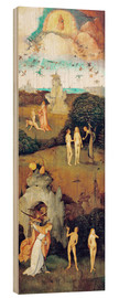 Wood print  Emergence of evil and the loss of paradise - Hieronymus Bosch
