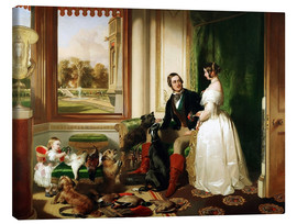 Canvas  Queen Victoria and Prince Albert - Franz Xaver Winterhalter