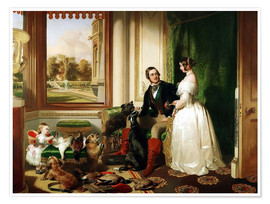 Premium poster Queen Victoria and Prince Albert