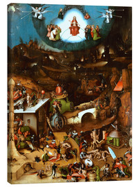 Canvas print  The Last Judgement, midsection - Hieronymus Bosch