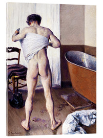 Acrylic print  Man in the bathroom - Gustave Caillebotte