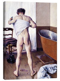 Canvas print  Man in the bathroom - Gustave Caillebotte