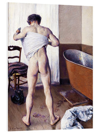 Foam board print  Man in the bathroom - Gustave Caillebotte