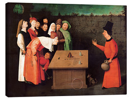 Canvas print  The entertainer - Hieronymus Bosch