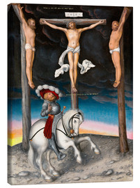 Canvas print  The Crucifixion with the converted Captain - Lucas Cranach d.Ä.